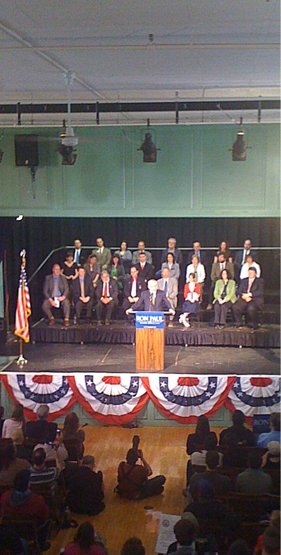 Ron Paul Announces in Exeter